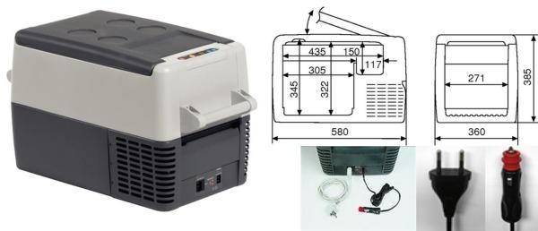 waeco glaci re compresseur coolfreeze cf 35 cf35 cf 35 ebay. Black Bedroom Furniture Sets. Home Design Ideas